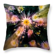 Flower Song On Fairy Wing Throw Pillow