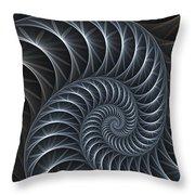 Flower Spiral Throw Pillow