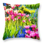 Flower Splash II Throw Pillow