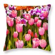Flower Splash IIi Throw Pillow