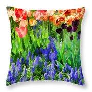 Flower Splash V Throw Pillow