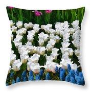 Flower Splash X Throw Pillow