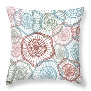 Flower Squiggle Throw Pillow