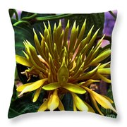 Flower - Sultry Dahlia - Luther Fine Art Throw Pillow