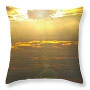 Flower Sun Throw Pillow