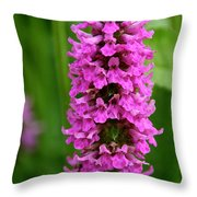 Flower Tower Tall Throw Pillow