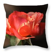 Flower-tri Toned-rose Throw Pillow