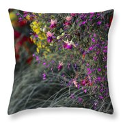 Flower Wall At The Falls Selective Color Throw Pillow