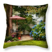 Flower - Westfield Nj - Private Paradise Throw Pillow