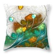 Flower Wind Throw Pillow