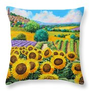 Flowered Garden Throw Pillow by Jean-Marc Janiaczyk
