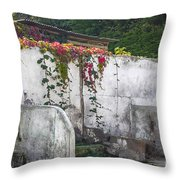 Flowered Remnants Throw Pillow
