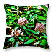 Flowered Tree Throw Pillow