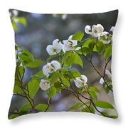Flowering Branches Throw Pillow