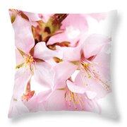 Flowering Cherry Throw Pillow