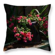 Flowering Coffee Pot Throw Pillow