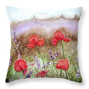 Flowering Field Throw Pillow