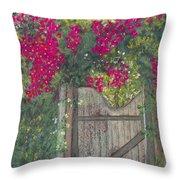 Flowering Gateway Throw Pillow