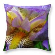 Flowering Iris Throw Pillow