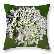 Flowering Leek - Topaz Clarity Demo Throw Pillow