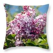 Flowering Lliac Bush Throw Pillow