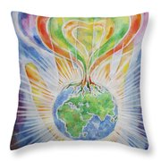 Flowering Of The Earth Throw Pillow