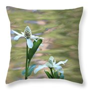 Flowering Pond Plant Throw Pillow