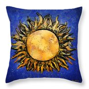 Flowering Sun Throw Pillow