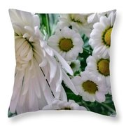 Flowering Together Throw Pillow