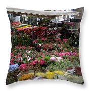 Flowermarket - Tours Throw Pillow