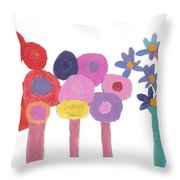 Flowers 1 Throw Pillow by Don Larison
