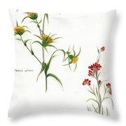 Flowers 1950 Throw Pillow