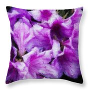 Flowers 2078 Embossed Throw Pillow