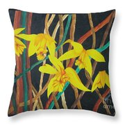 Flowers A Flame Throw Pillow
