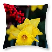 Flowers And Berries 030515aa Throw Pillow