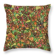 Flowers And Foliage  Throw Pillow