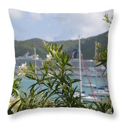Flowers And Freedom Throw Pillow