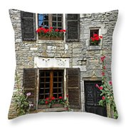 Flowers And Windows Throw Pillow