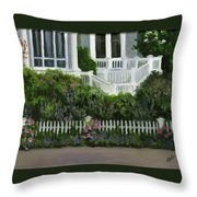 Flowers At Bay Head Throw Pillow