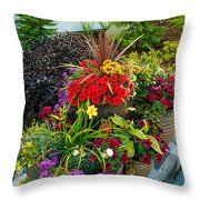 Flowers At Entrance Throw Pillow