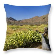 Flowers At The Headstone Throw Pillow