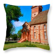 Flowers At The Tabernacle Throw Pillow
