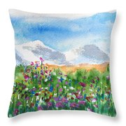 Flowers At Wolf Creek Throw Pillow