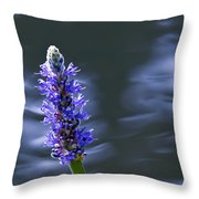 Flowers By The Water Throw Pillow