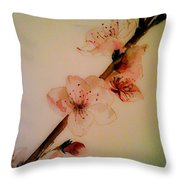 Flowers - Cherry Blossoms - Blooms Throw Pillow