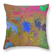 Flowers Cubed 1 Throw Pillow