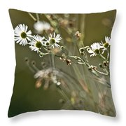 Flowers End Throw Pillow