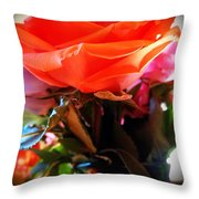 Flowers For A Loved One Throw Pillow
