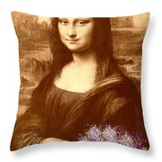 Flowers For Mona Lisa Throw Pillow