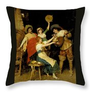 Flowers For Music Throw Pillow